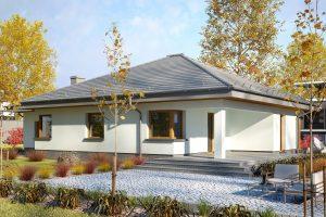 Projekty domów jednorodzinnych parterowych bez garażu Dom w Zieleni