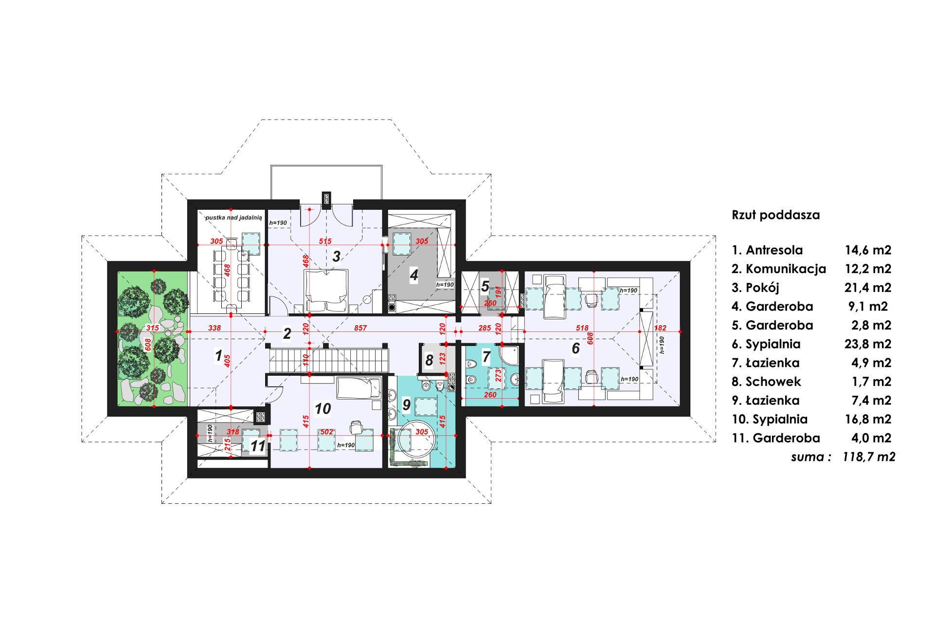 Projekt Domu Tenea 2 Projekty Domów Z Ogrodami Domy W