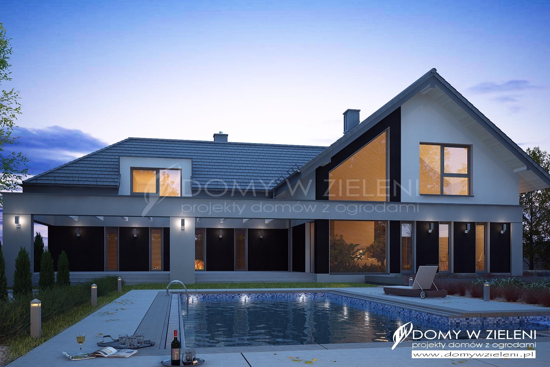 Gotowy Projekt Domu Tiala1 Domy W Zieleni Projekty Domów